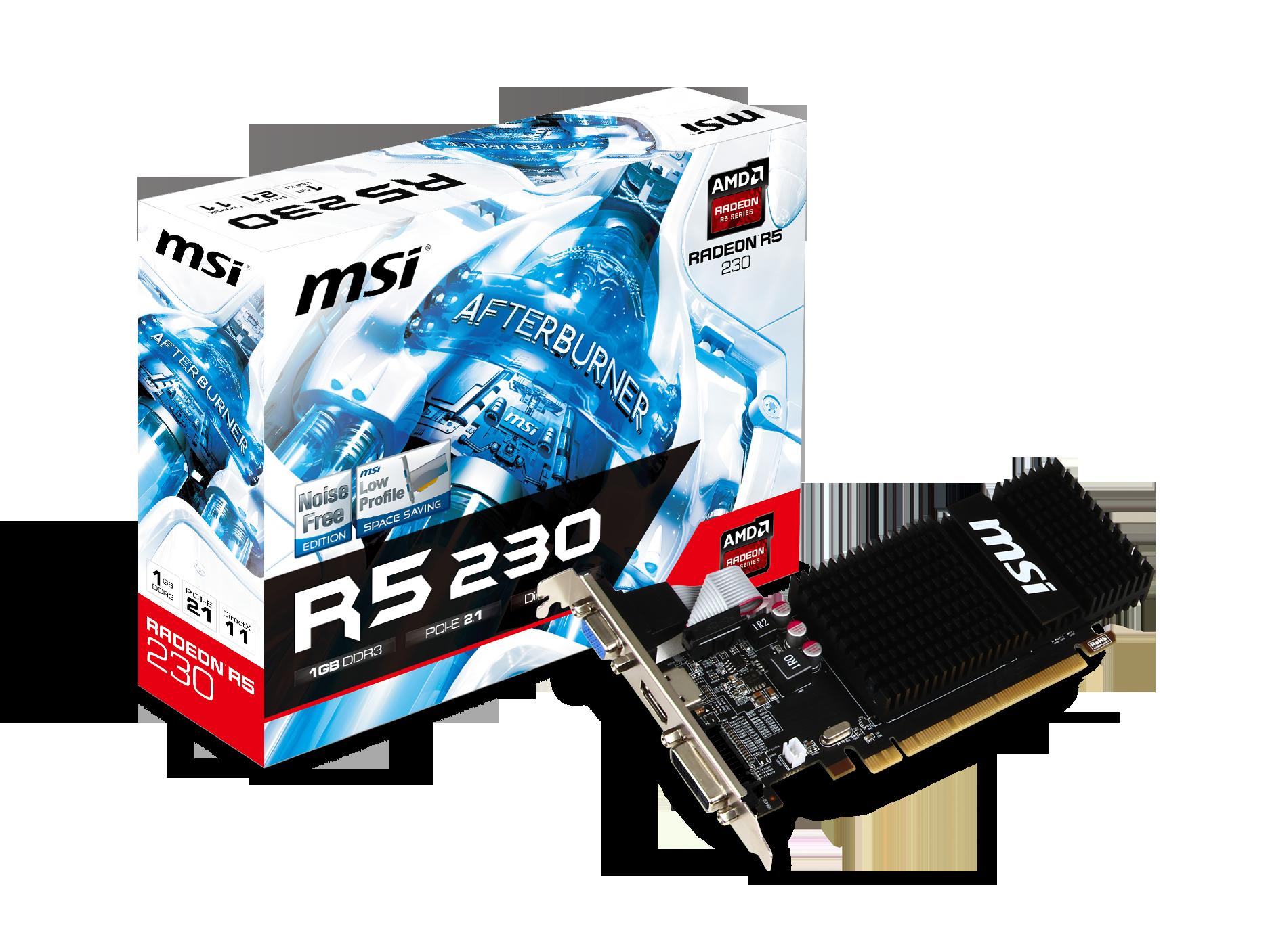 MSI R5 230 1GD3H LP - VGA - PCI-E x16