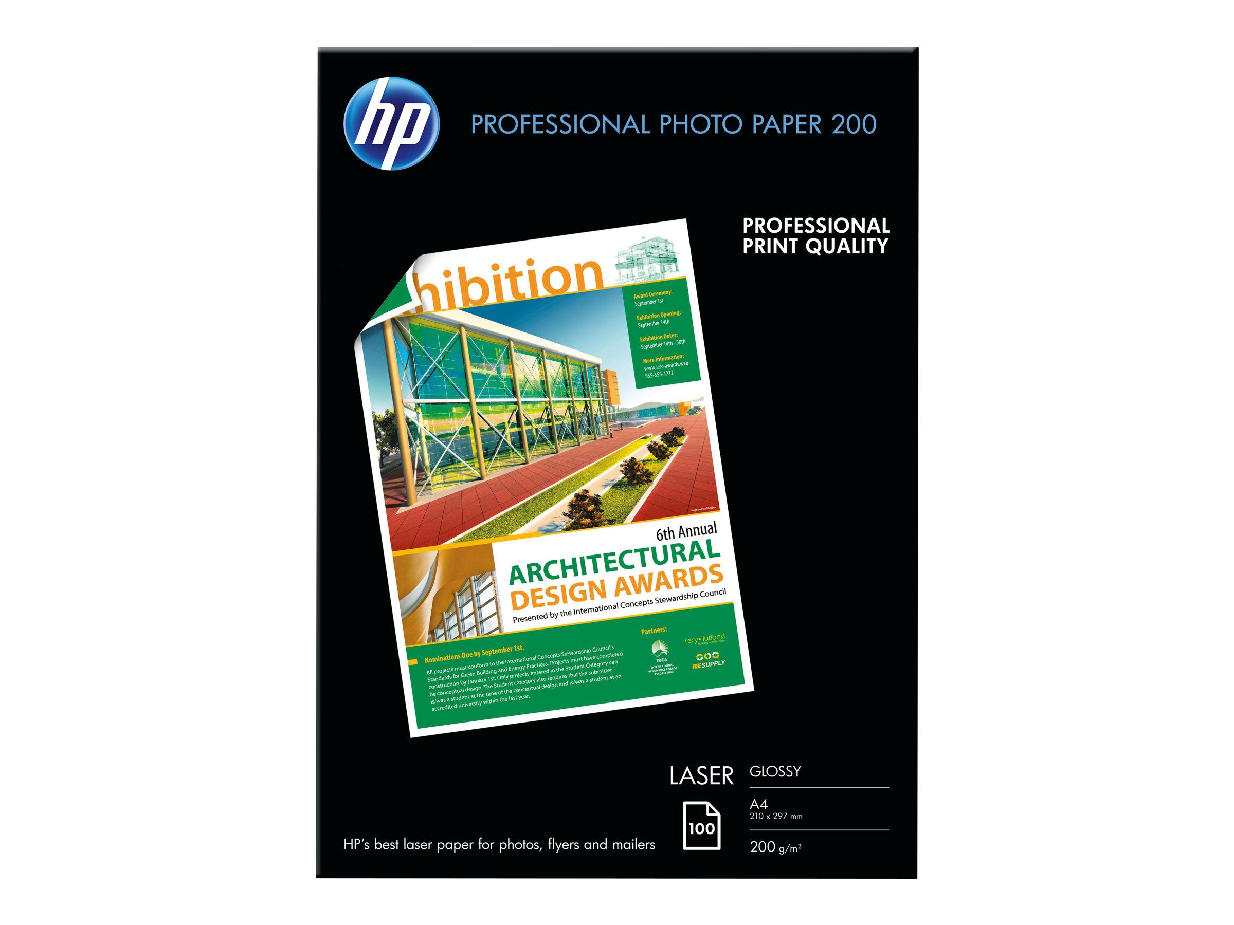 HP Professional Glossy Paper - Glänzend - A4 (210 x 297 mm)