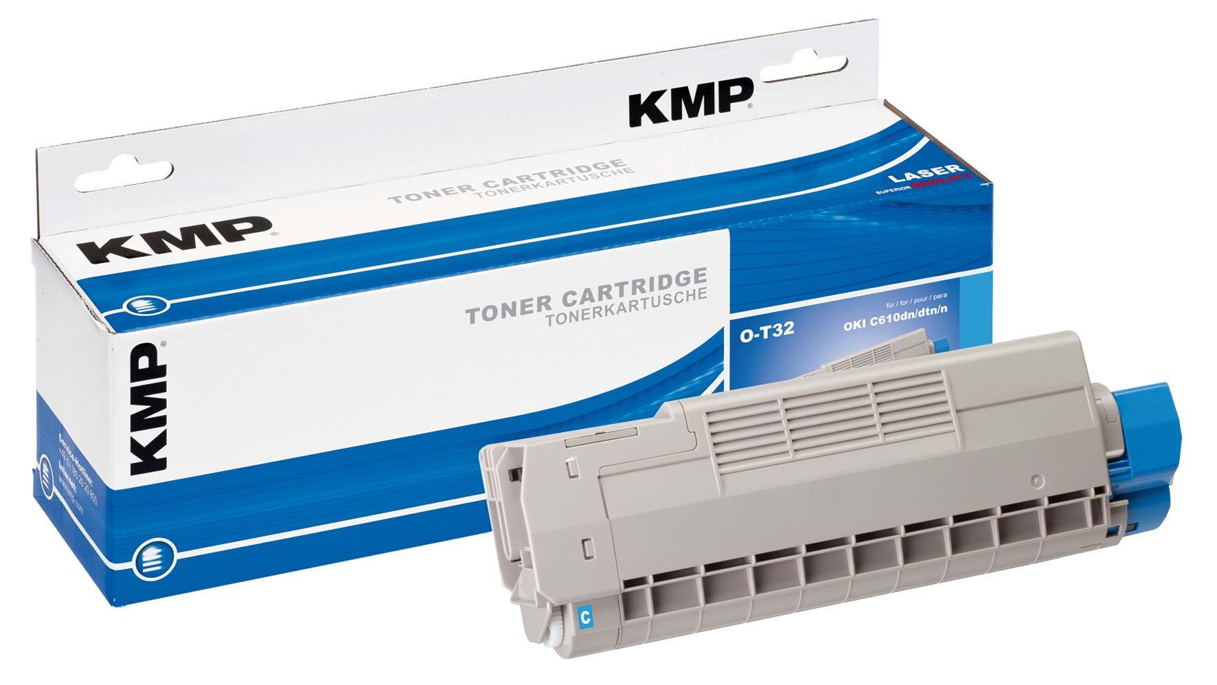 KMP O-T32 - Cyan - compatible - Tonerpatrone