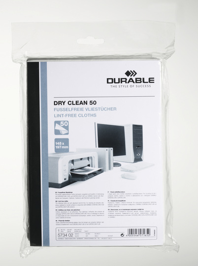 Durable 5734 - Gerätereinigungs-Trockentücher - Faser - Weiß - 145 mm - 197 mm - 50 Stück(e)