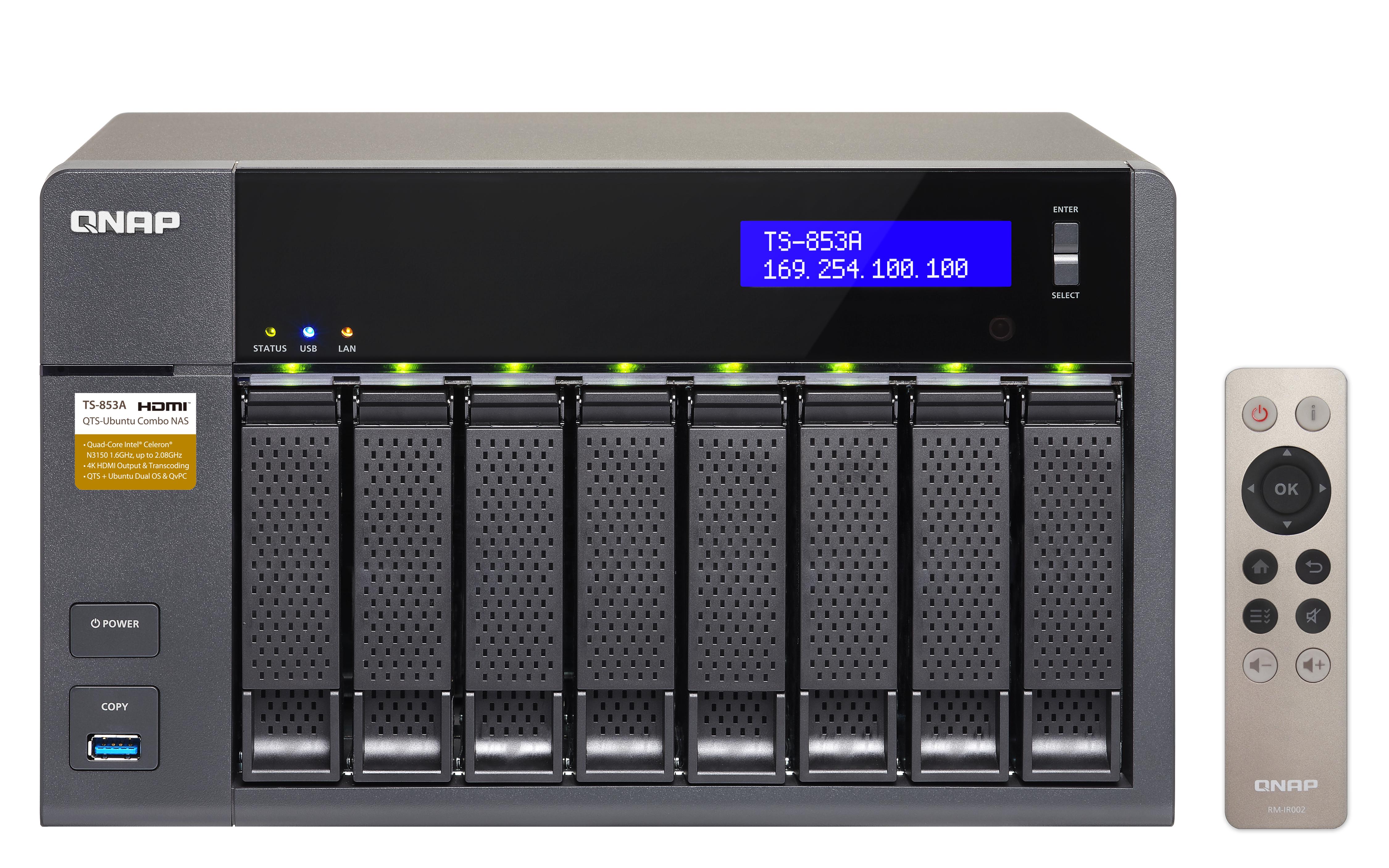 QNAP TS-853A - NAS-Server - 8 Schächte