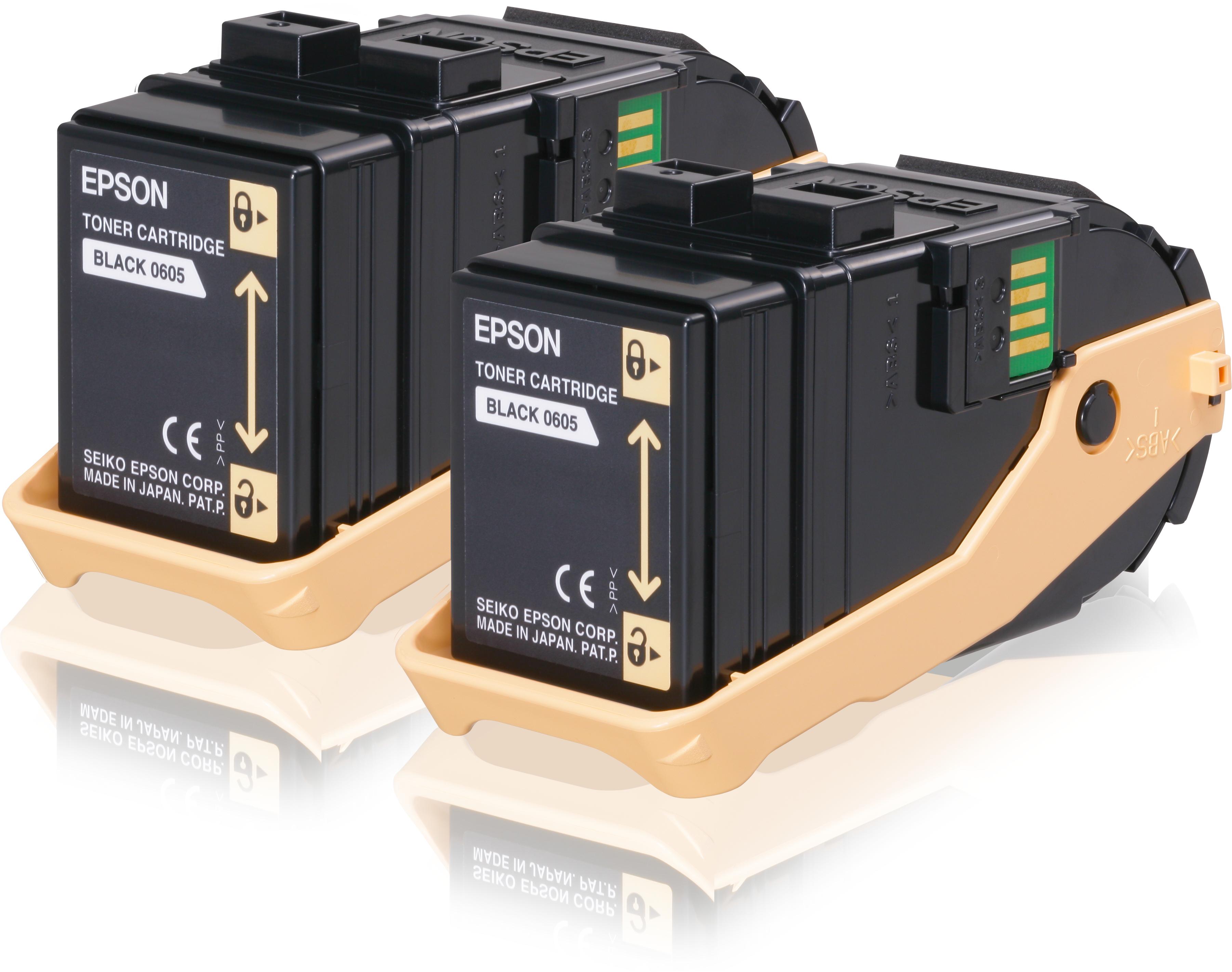 Epson-C13S050609-Double-Pack-Toner-Cartridge-Black-6-5kx2-6500-pages-Black thumbnail 2