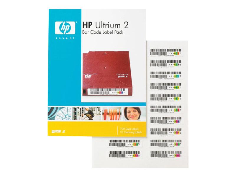 HP Enterprise Ultrium 2 - Strichcodeetiketten - für StorageWorks MSL2024, MSL4048, MSL6030