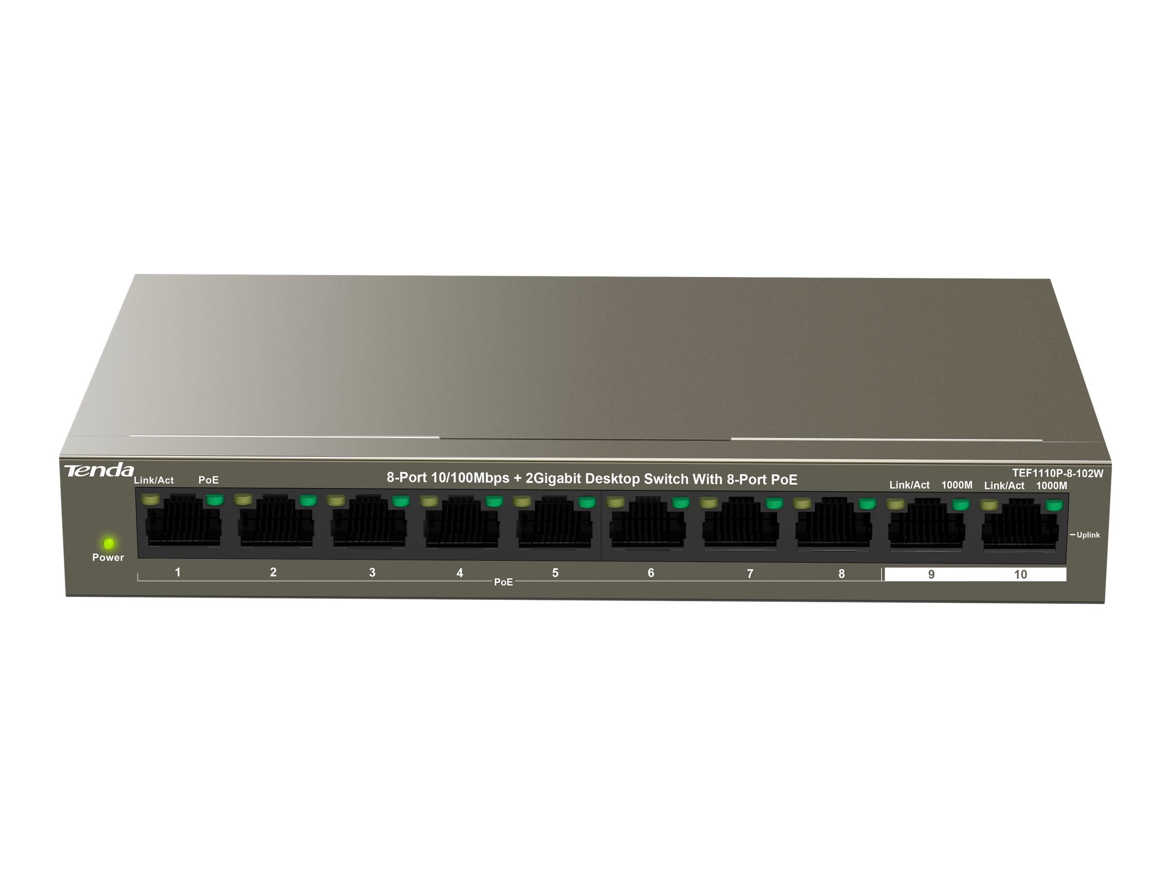 Tenda TEF1110P-8-102W - Switch - 8 x 10/100 (PoE+)