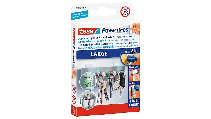 Tesa Powerstrips LARGE - Montagepad - Weiß - 2 kg