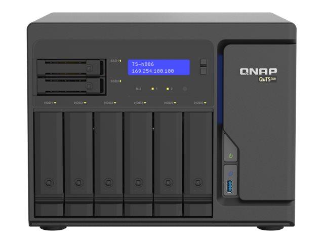 QNAP TS-H886-D1622-16G - NAS-Server - 8 Schächte