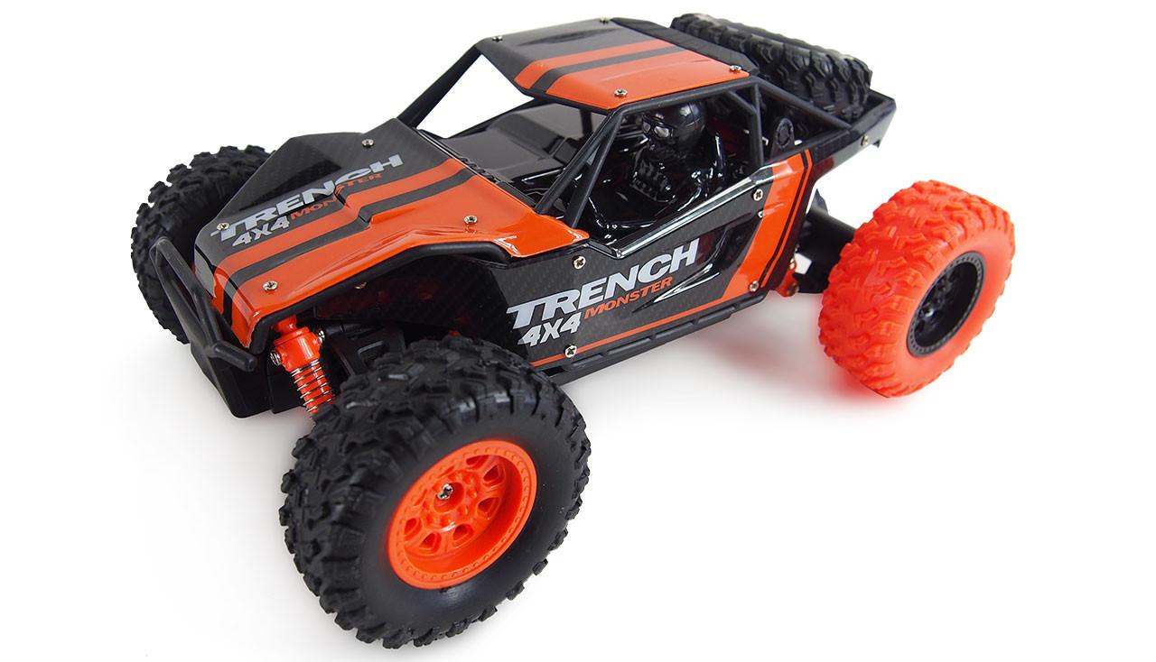 Amewi Desert Truck Trench - Buggy - Elektromotor - 1:24 - Betriebsbereit (RTR) - Schwarz - Orange - Junge
