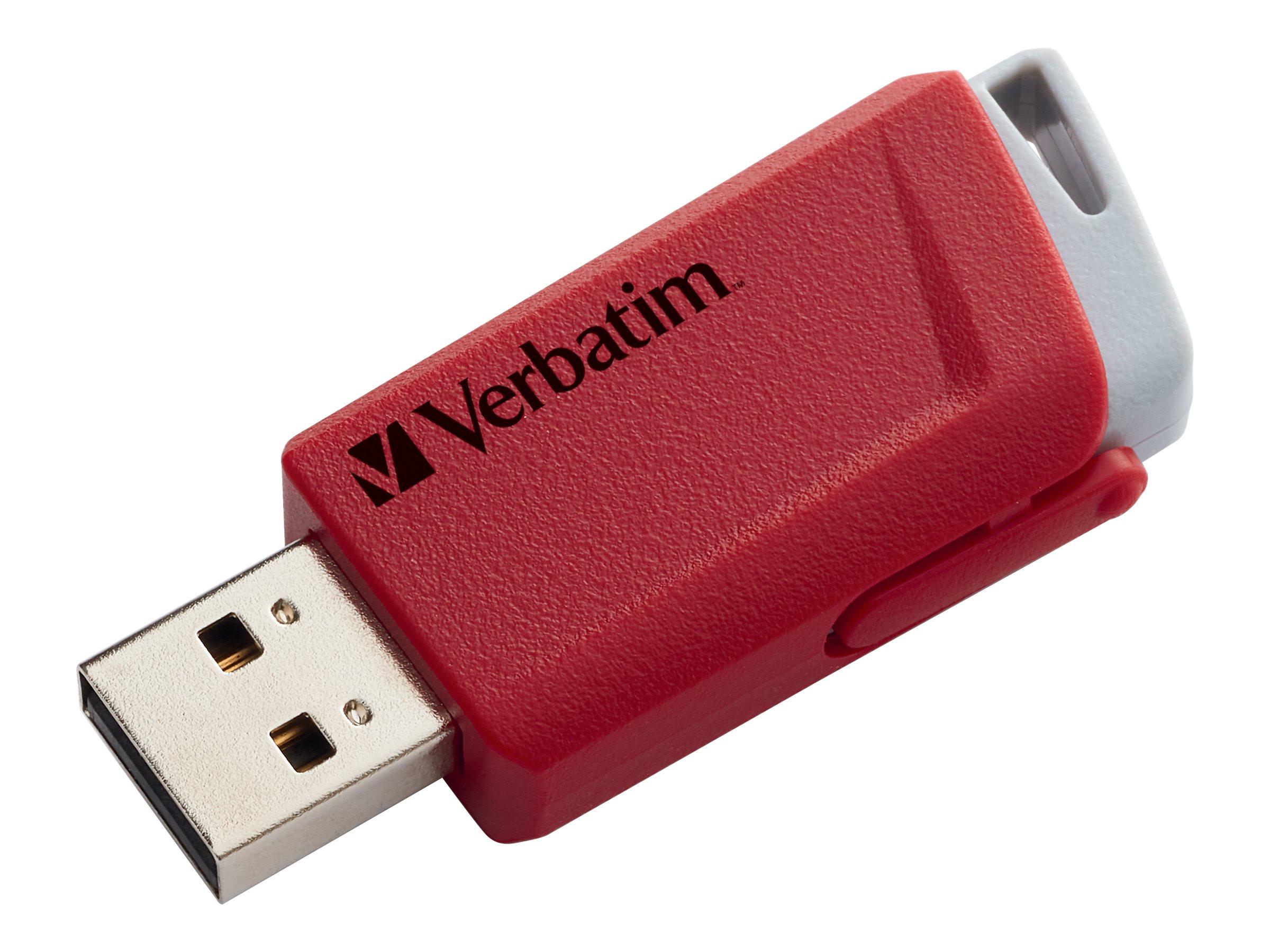 Verbatim Store 'n' Click - USB-Flash-Laufwerk - 16 GB - USB 3.2 Gen 1 - Blau, Gelb, Rot (Packung mit 3)