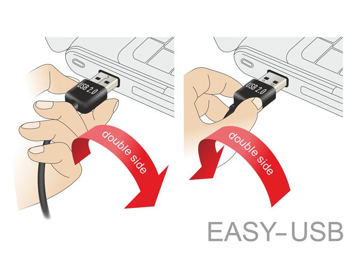 Delock-USB-cable-Micro-USB-Type-B-M-to-USB-M-USB-2-0-20-cm-reversible-84805 miniatura 3
