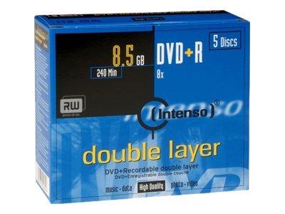 Intenso 5 x DVD+R DL - 8.5 GB 8x - Jewel Case (Schachtel)