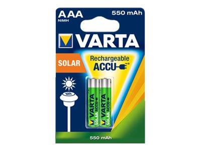 Varta Solar - Batterie 2 x AAA - NiMH - (wiederaufladbar)