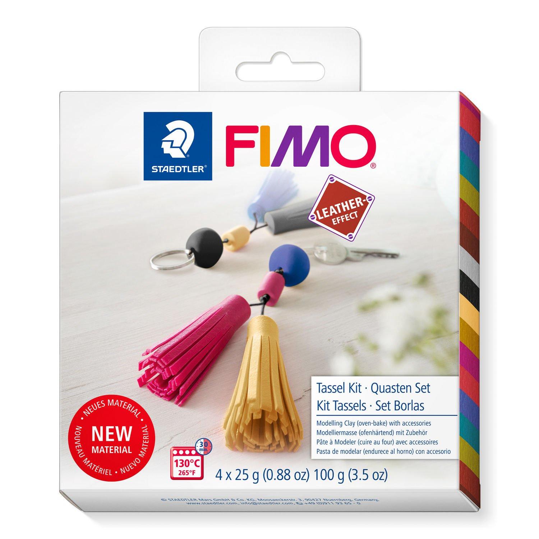 STAEDTLER FIMO leather-effect 8015 - Knetmasse - Beere - Schwarz - Indigo - Gelb - Erwachsene - 4 Stück(e) - 4 Farben - 130 °C