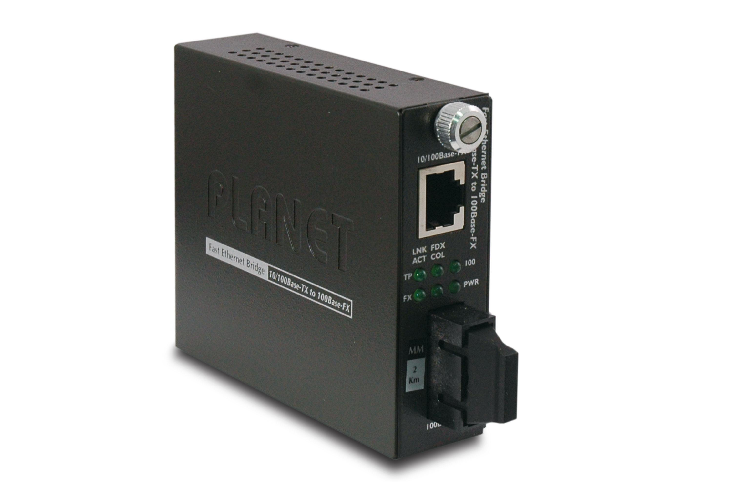 Planet FST-802 - 100 Mbit/s - 10Base-T,100Base-TX - 100Base-FX - IEEE 802.3,IEEE 802.3u - SC - Verkabelt