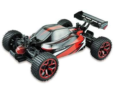 Amewi Storm D5 1:18 4WD RTR - Buggy - Elektromotor - 1:18 - Betriebsbereit (RTR) - Schwarz - Rot - Allradantrieb