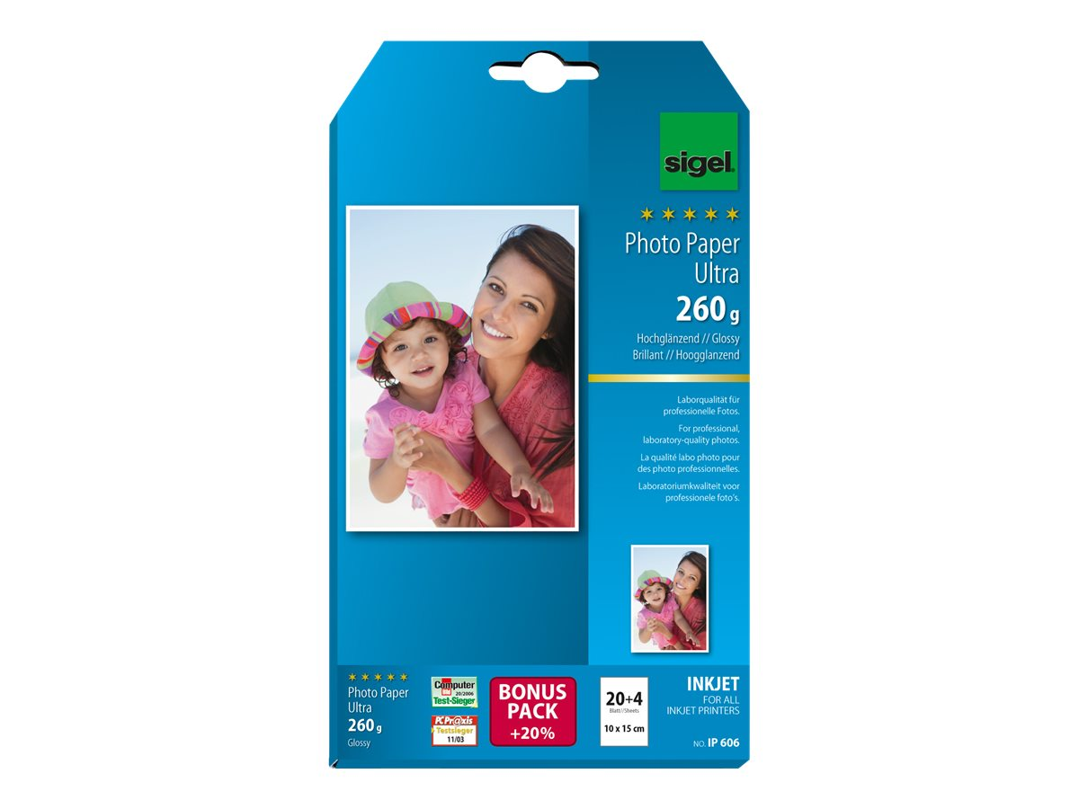 Sigel InkJet Ultra Photo Paper IP606 with Print-Tab