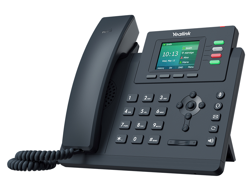 Yealink SIP-T33G - Grau - Kabelgebundenes Mobilteil - Tasten - LED - 320 x 240 Pixel - 6,1 cm (2.4 Zoll)