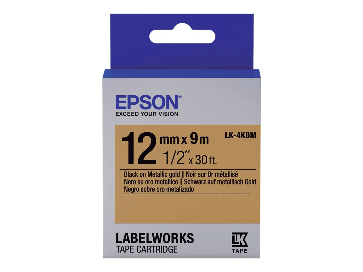 Epson LabelWorks LK-4KBM - Schwarz auf Gold - Rolle (1,2 cm x 9 m)