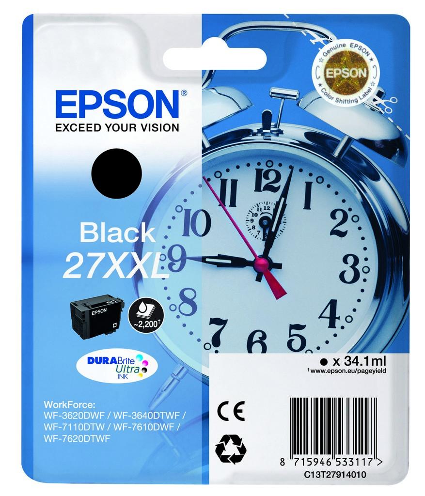 Epson 27XXL DURABrite Ultra Schwarz Tintenpatrone
