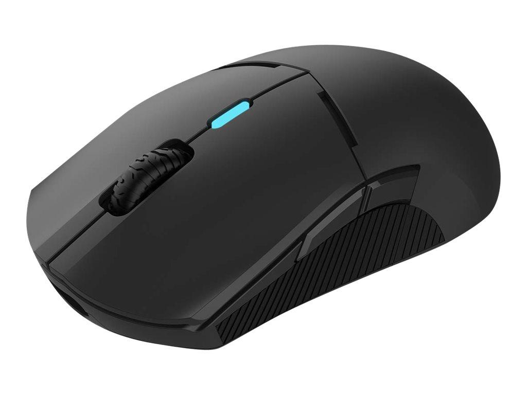 QPAD DX-900 - Maus - rechts- und linkshändig - optisch - 8 Tasten - kabellos, kabelgebunden - 2.4 GHz - kabelloser Empfänger (USB)