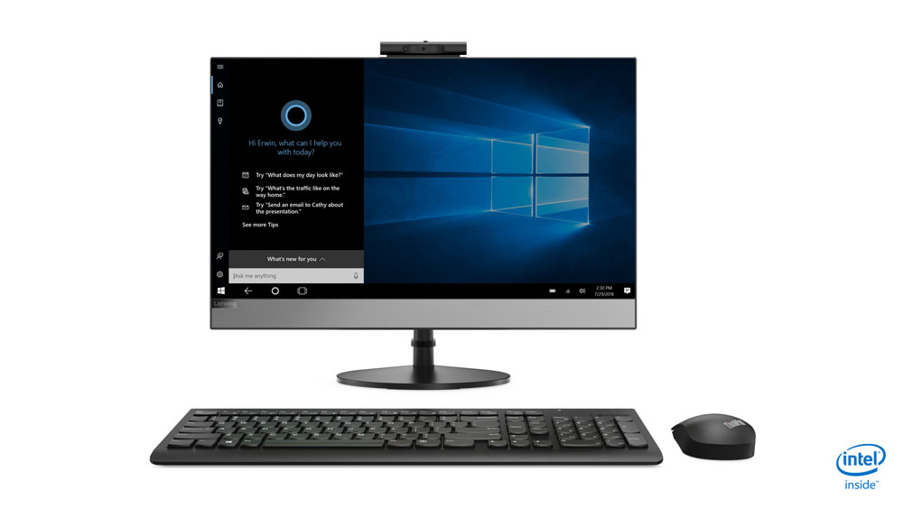 Lenovo AIO V530 - All-in-One mit Monitor - Core i3 3,1 GHz - RAM: 8 GB DDR4 - HDD: 256 GB NVMe - UHD Graphics 600