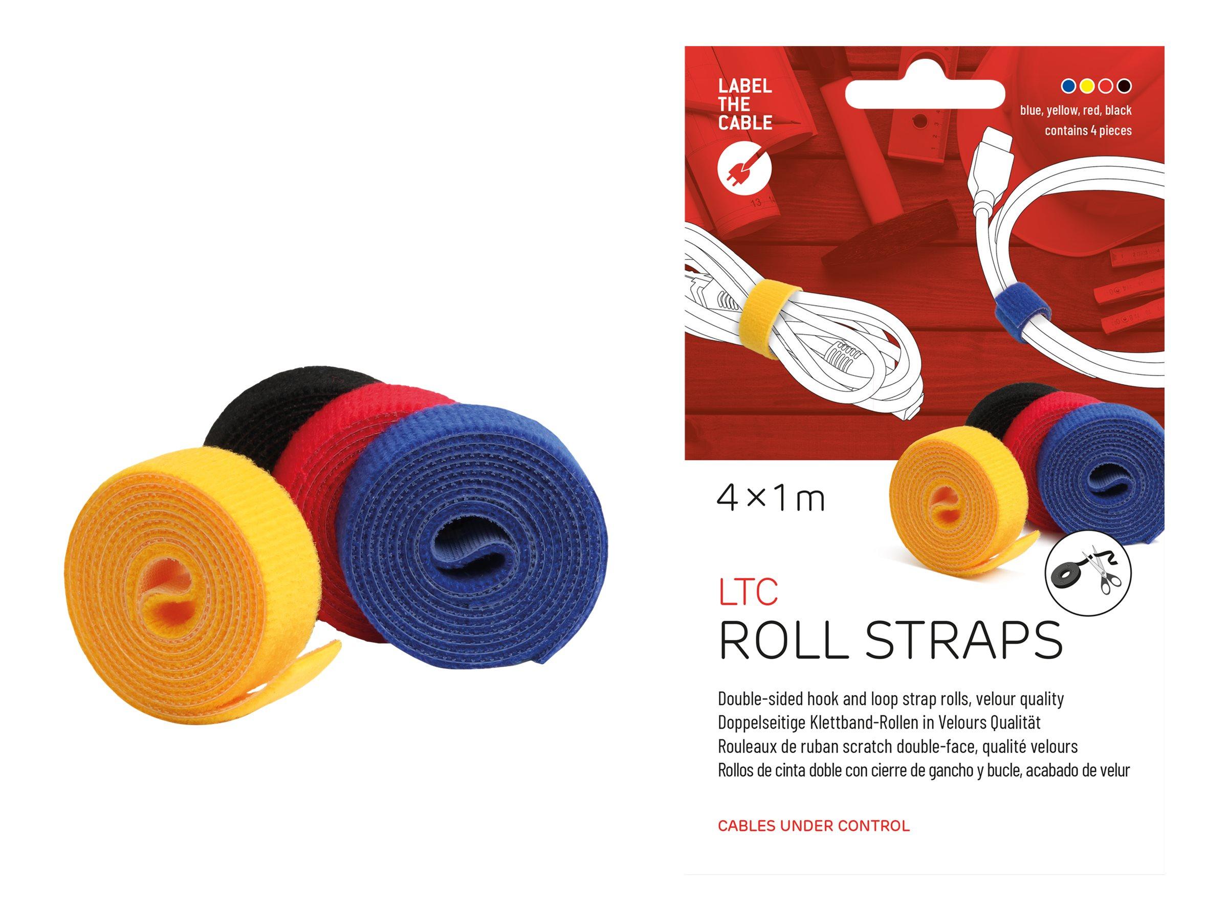 Label-the-cable LTC ROLL STRAP - Klettverschlussstreifen - weiß