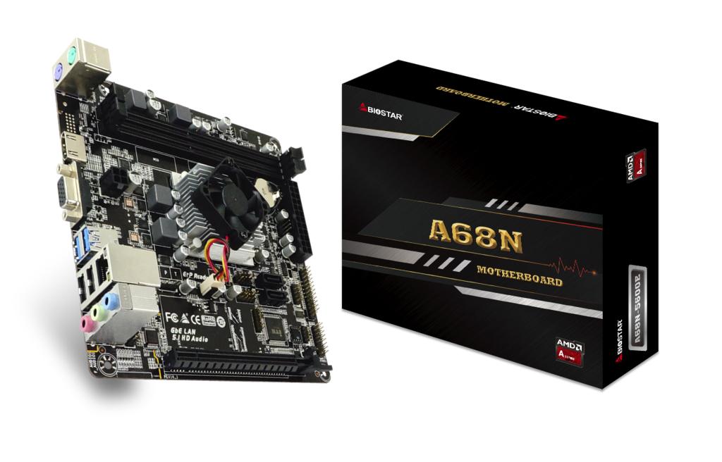 Biostar A68N-5600E - AMD - A4-3350B - 2 GHz - DDR3-SDRAM,DDR3L-SDRAM - DIMM - 800,1066,1333,1600 MHz