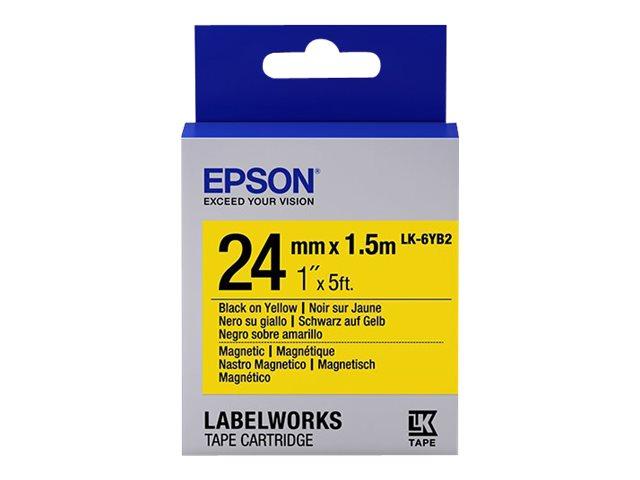 Epson LabelWorks LK-6YB2 - Schwarz auf Weiß - Rolle (1,8 cm x 1,5 m)