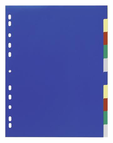 Durable 6747-27 - Numerischer Registerindex - Polypropylen (PP) - Blau - Porträt - A4