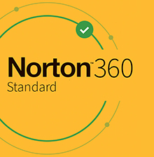 Symantec Norton 360 Standard - Box-Pack (1 Jahr) - 1 Gerät, 10 GB Cloud-Speicherplatz