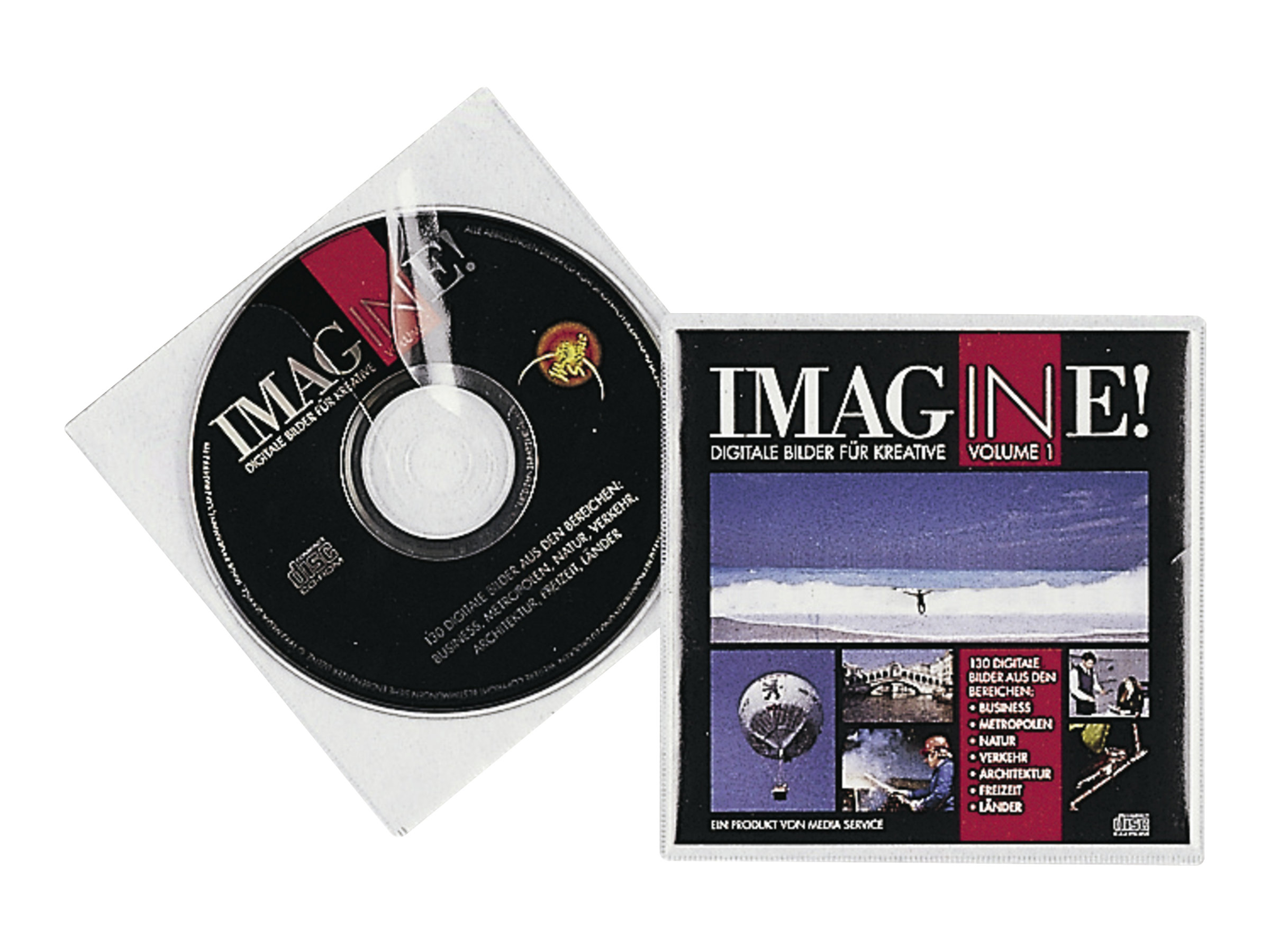 Durable CD COVER Pocket - CD-Hülle - Kapazität: 1 CD - durchsichtig (Packung mit 10)