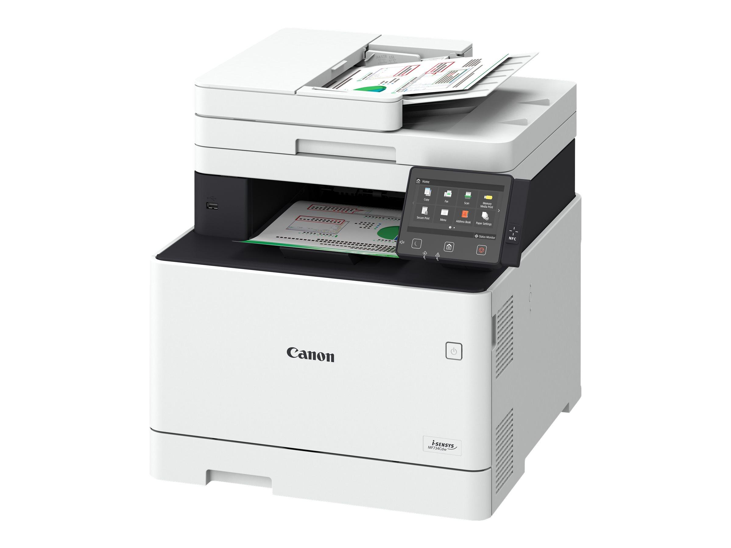 Canon i-SENSYS MF734Cdw - Multifunktionsdrucker - Farbe - Laser - A4 (210 x 297 mm)