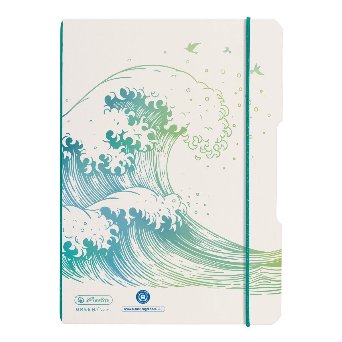 Vorschau: Herlitz my.book flex - Muster - Weiß - A5 - 40 Blätter - Punktgitter-Papier - Erwachsener