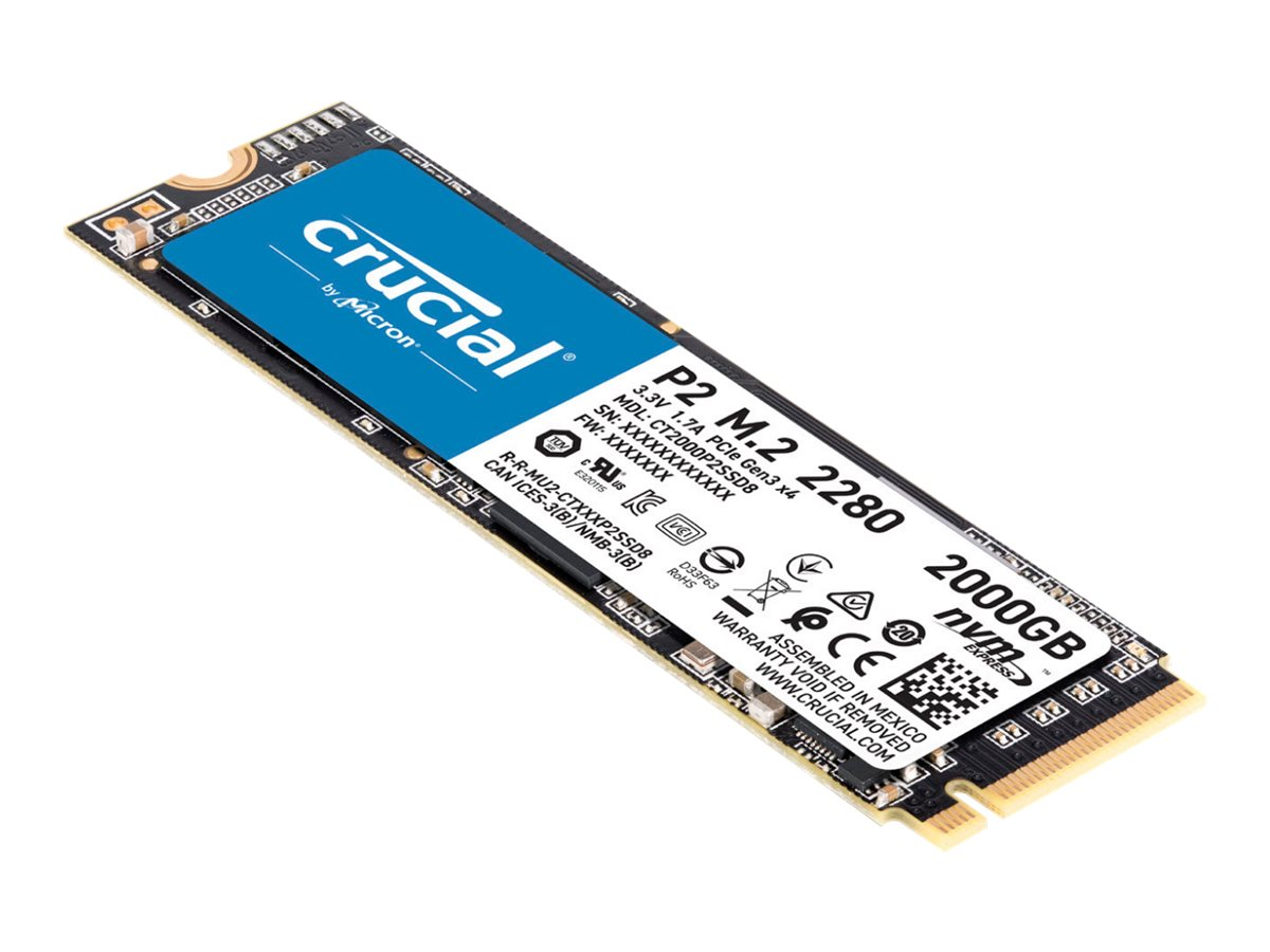 Crucial P2 - 2 TB SSD - intern - M.2 2280 - PCI Express 3.0 x4 (NVMe)