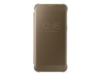 Clear View Cover EF-ZG930 - Flip-Hülle für Mobiltelefon - Gold