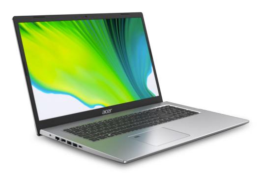 Acer Aspire 5 A517-52G-79Z5 - Intel Core i7-11xxx - 4,7 GHz - 43,9 cm (17.3 Zoll) - 1920 x 1080 Pixel - 16 GB - 1000 GB