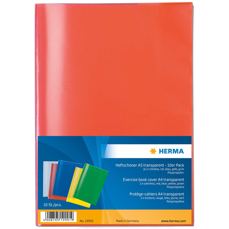 HERMA 19991 - Blau - Grün - Grau - Rot - Gelb - Polypropylen (PP) - 10 Stück(e)