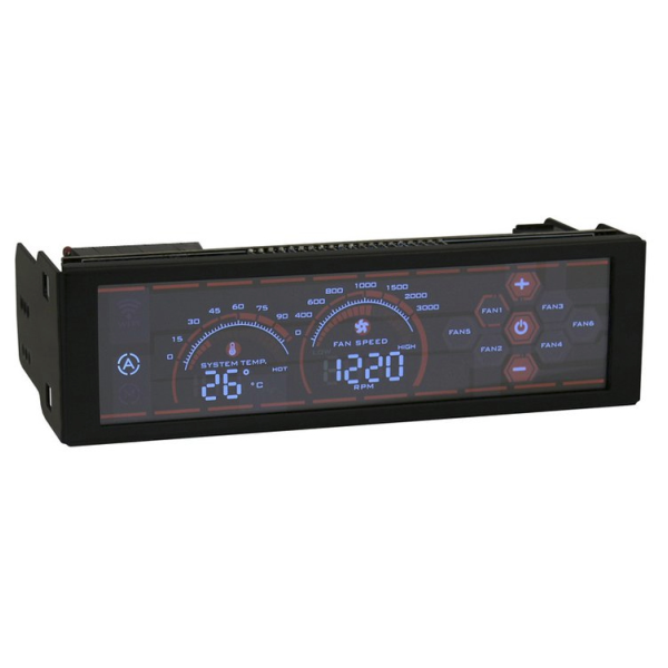 Details about LC Power LC-CFC-1 fan speed controller Black 13 3 cm (5 25