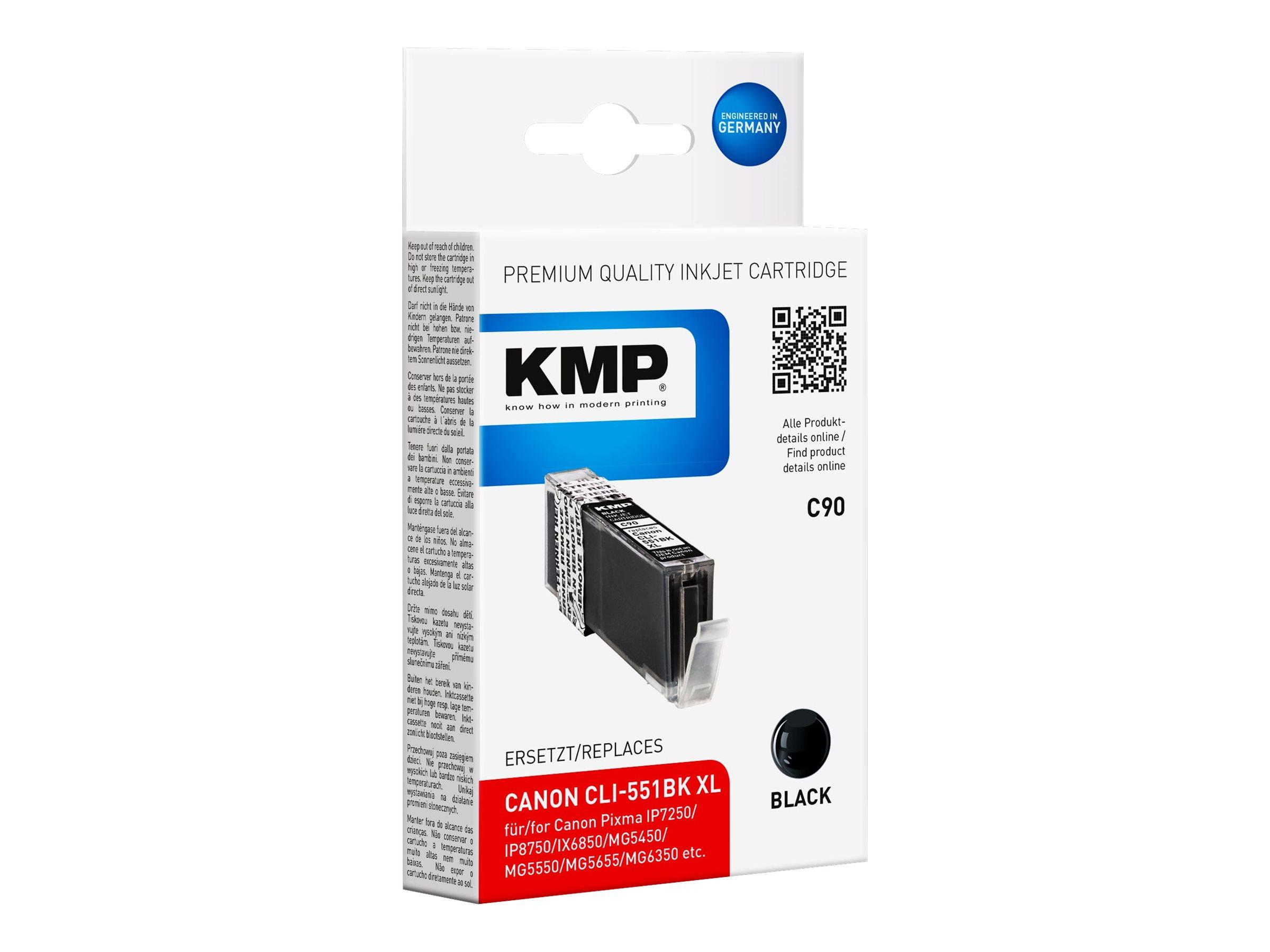 KMP C90 - 15 ml - Schwarz - kompatibel - Tintenpatrone