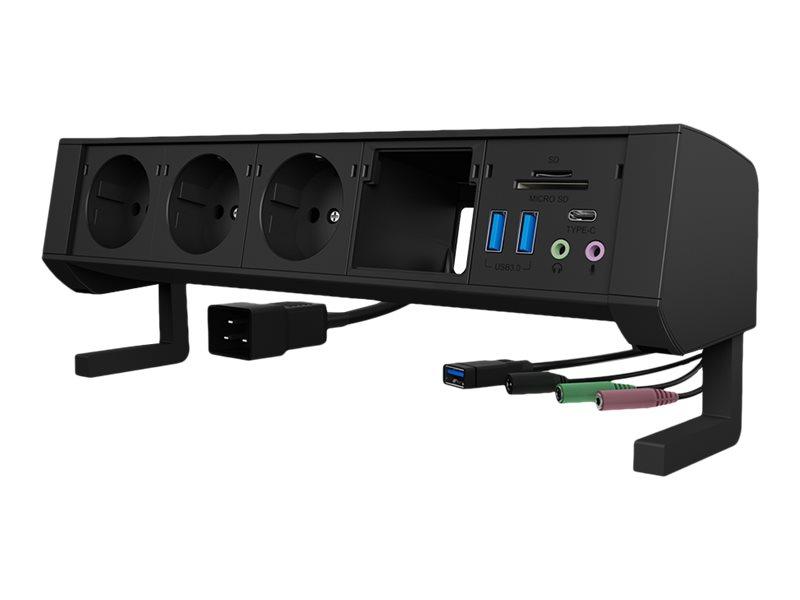 Vorschau: ICY BOX ICY BOX IB-TS301-5 - Verlängerungsschnur - Wechselstrom 230 V - Ausgangsanschlüsse: 3 (Eurostecker)