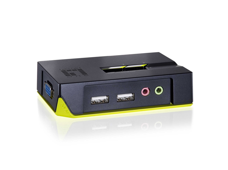 LevelOne ViewCon KVM-0221 2-Port KVM-Umschalter - USB