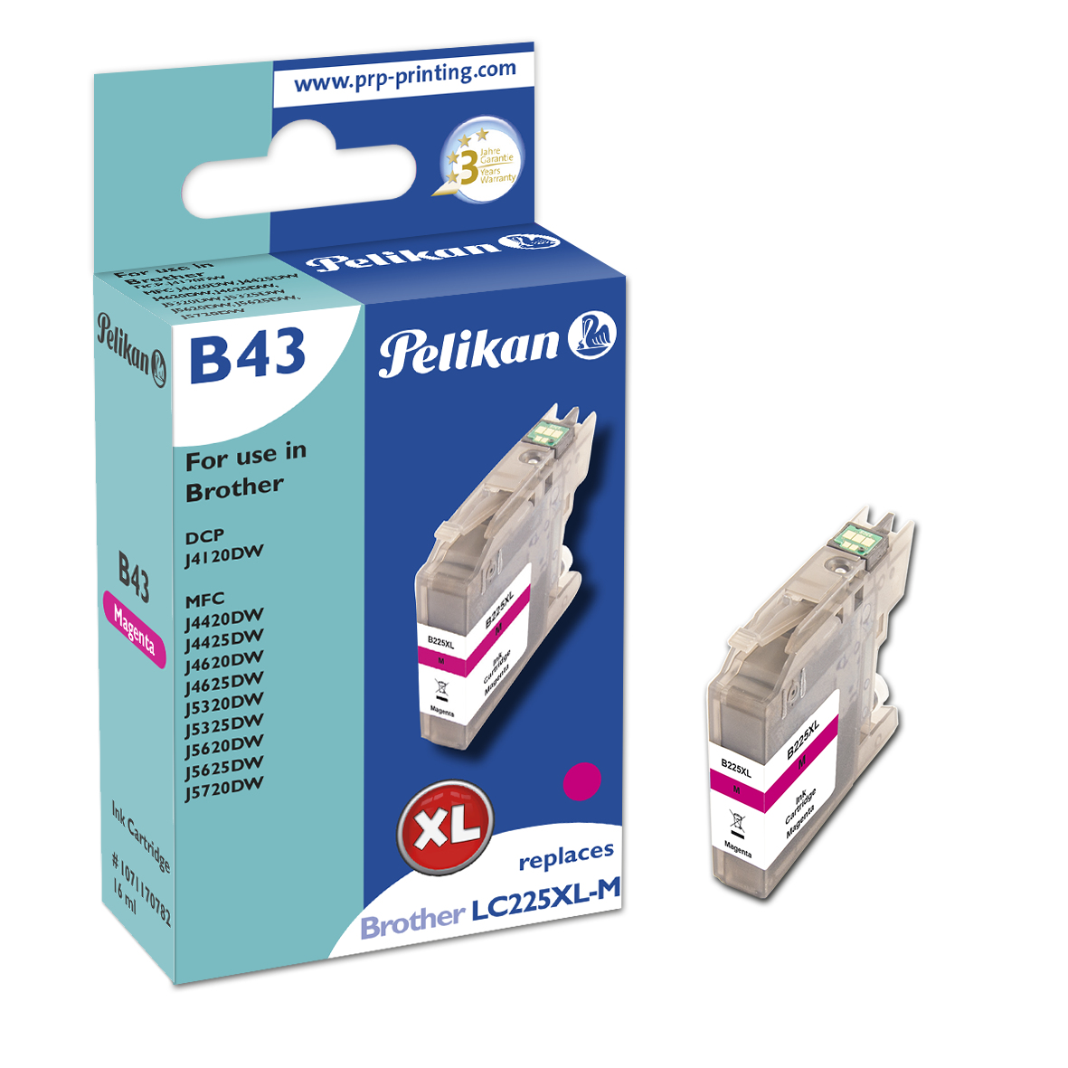 Pelikan B43 Magenta - Kompatibel - Magenta - Brother - Einzelpackung - 1 Stück(e) - 1200 Seiten