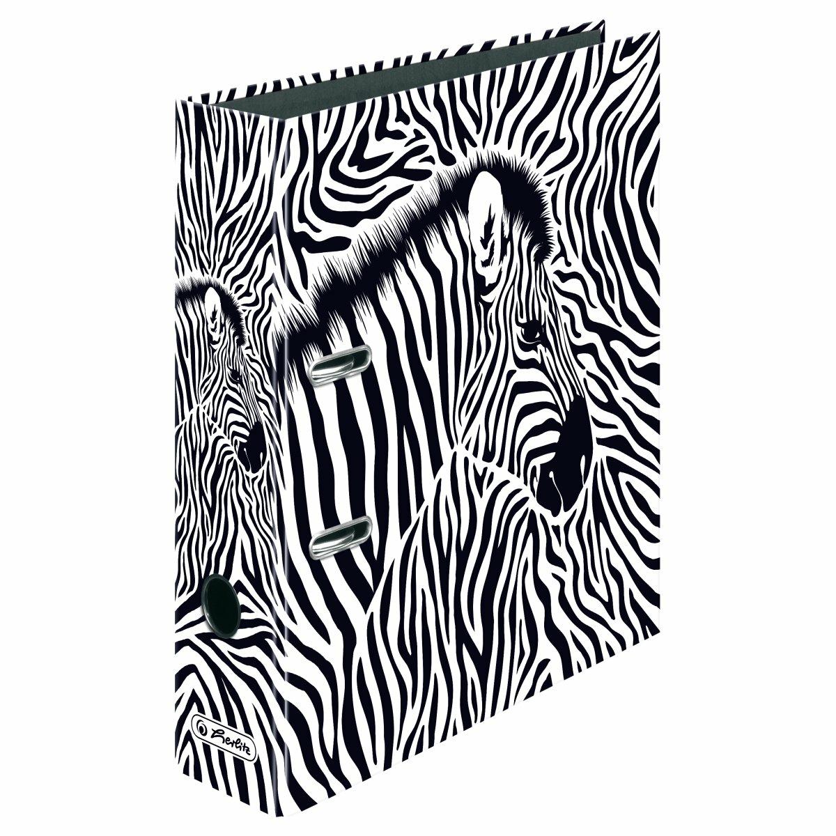 Herlitz 50036745 - maX.file - Ordner - Zebra Motiv - DIN A 4