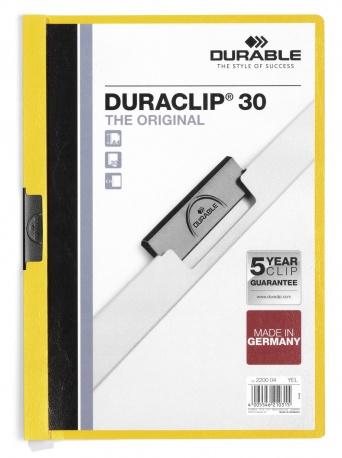 Durable Duraclip 30 - Transparent - Gelb - PVC - 30 Blätter - A4 - 1 Stück(e)