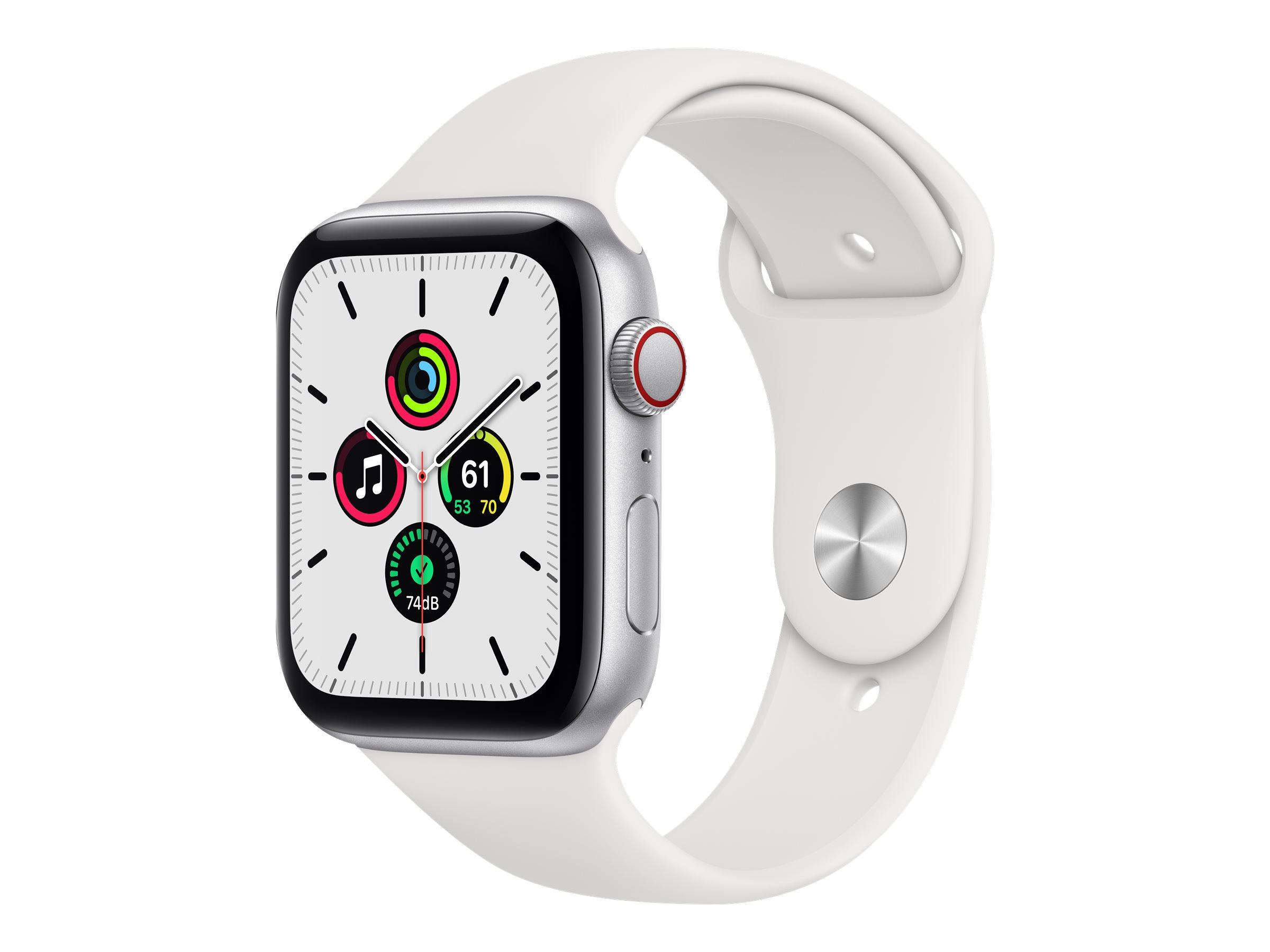 Apple Watch SE (GPS + Cellular) - 44 mm - Aluminium, Silber