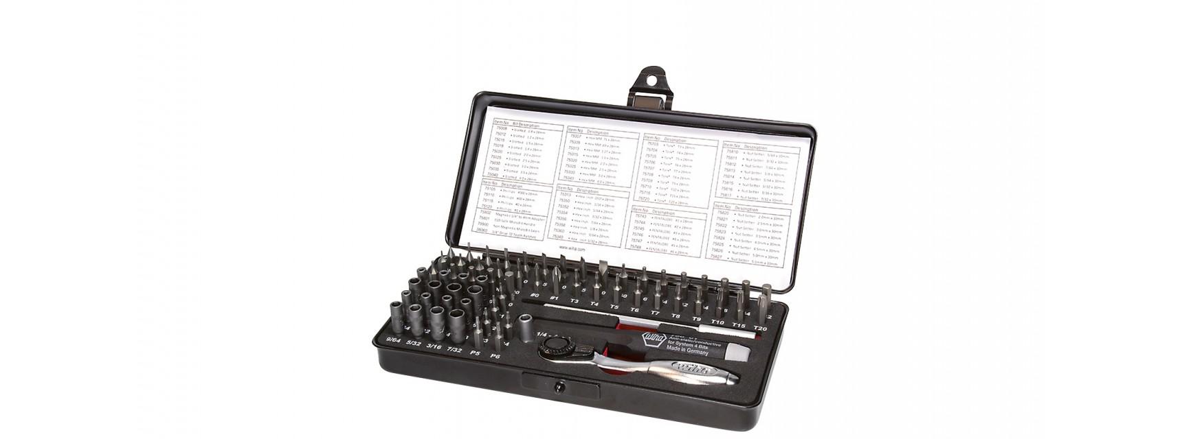 Wiha 7000 SK 65 ESD - 65 Stück(e) - Kreuz - Flach - 1x Micro-bit 28 mm (40600)  - Slotted: 0,8  - Bit length: 28 1x Micro-bit 28 mm (40601)  - Slotted:...