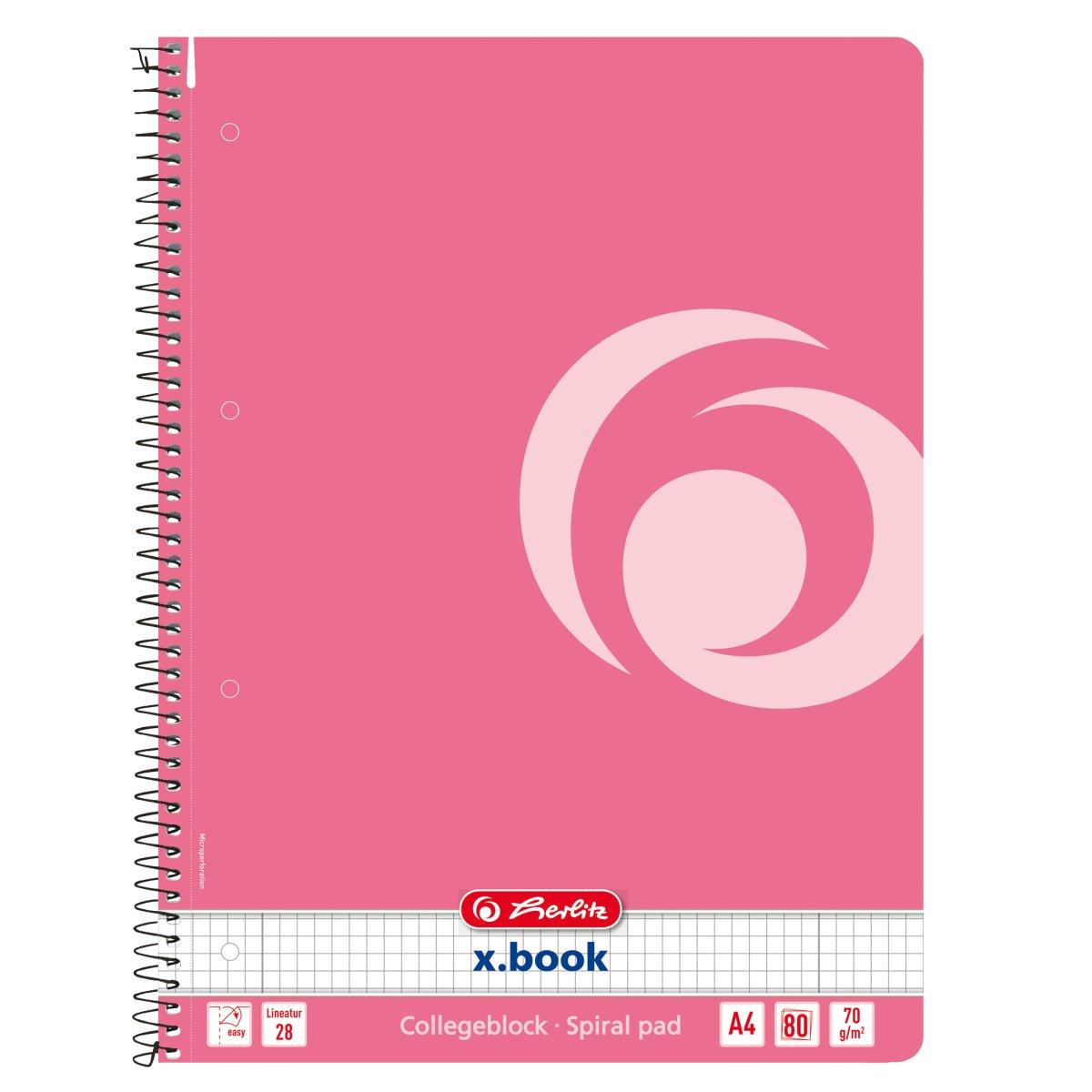 Herlitz 50015696 - Abbildung - Pink - A4 - 80 Blätter - 70 g/m² - Kariertes Papier