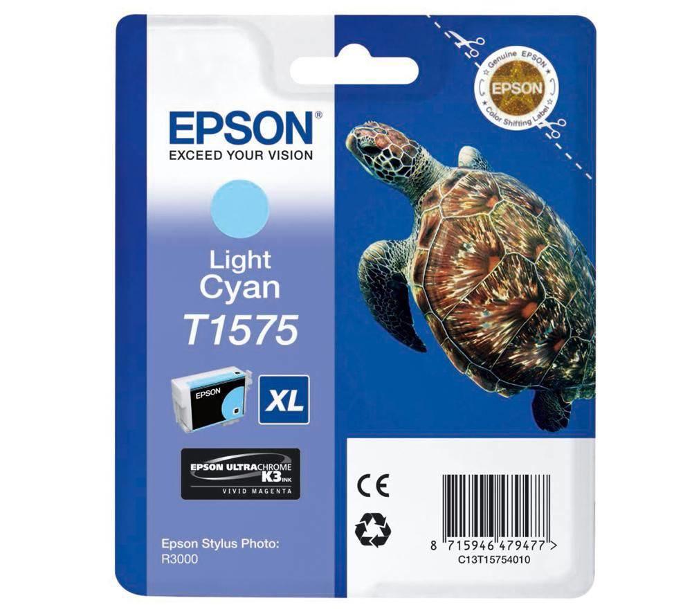 Epson T1575 Light Cyan - Tintenpatrone Original - Hell- / PhotoCyan - 25,9 ml