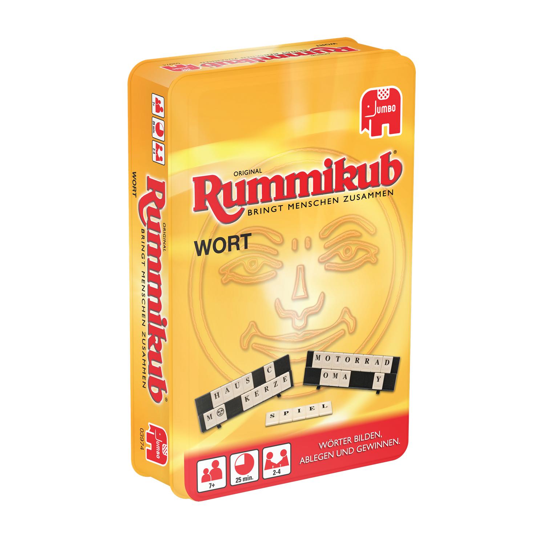 Jumbo Rummikub WORT Kompakt - Legespiel - Kinder & Erwachsene - 8 Jahr(e)