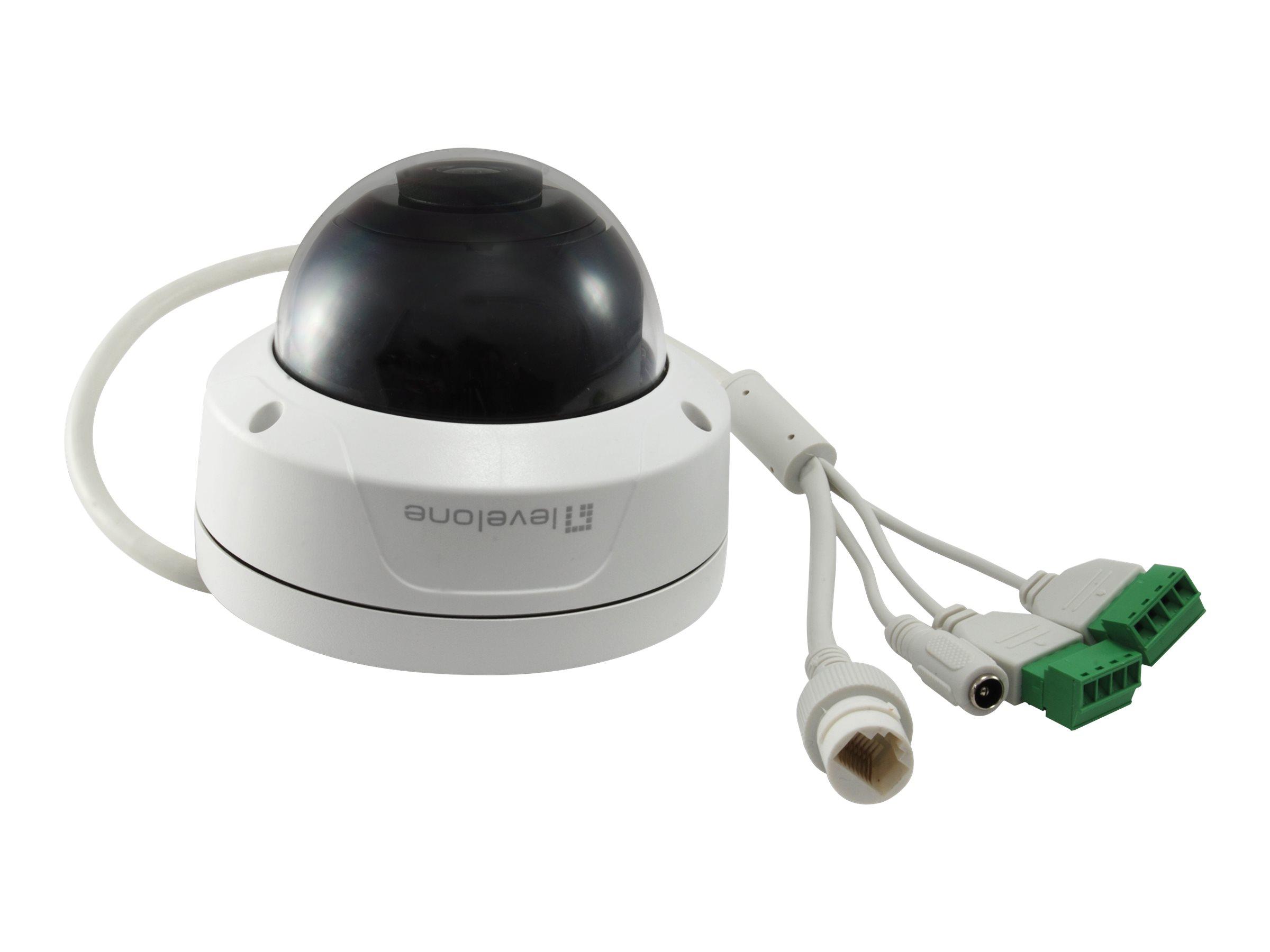 LevelOne FCS-3090 - Netzwerk-Überwachungskamera - Kuppel - Außenbereich - Vandalismussicher / Wetterbeständig - Farbe (Tag&Nacht)