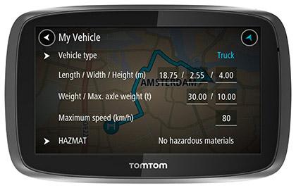 TomTom PRO 7250 TRUCK Tragbar / Fixiert 5Zoll LCD Touchscreen 229g Schwarz Navigationssystem